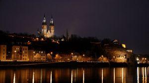 Preview wallpaper prague, czech republic, night, building, cityscape