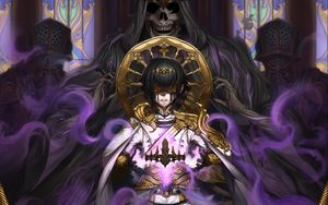 Preview wallpaper prince, crown, demon, magic, fantasy, anime