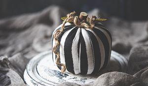 Preview wallpaper pumpkin, fabric, stripes, rope