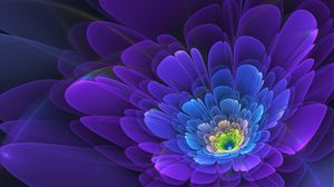 Preview wallpaper purple, flower, fractal