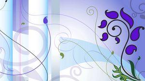 Preview wallpaper purple, lilac, blue, flowers, patterns