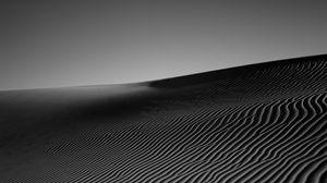 Preview wallpaper desert, sand, monochrome, bw
