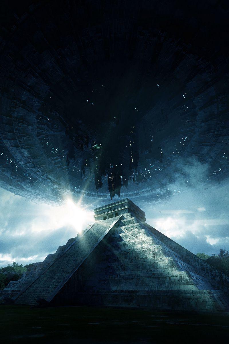 800x1200 Wallpaper pyramid, ufo, aliens, visit, contact, extraterrestrial, civilization