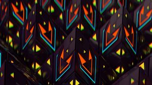 Preview wallpaper pyramids, figures, 3d, colorful, structure