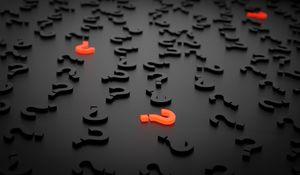 Preview wallpaper question marks, figures, 3d