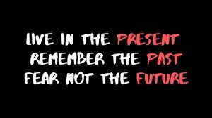 Preview wallpaper past, present, future, quote, motivation, inspiration