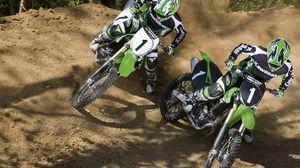 Preview wallpaper race, motorcycles, turn, sportsmen