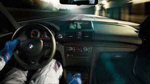 Preview wallpaper racer, beauty, bmw, speed, track