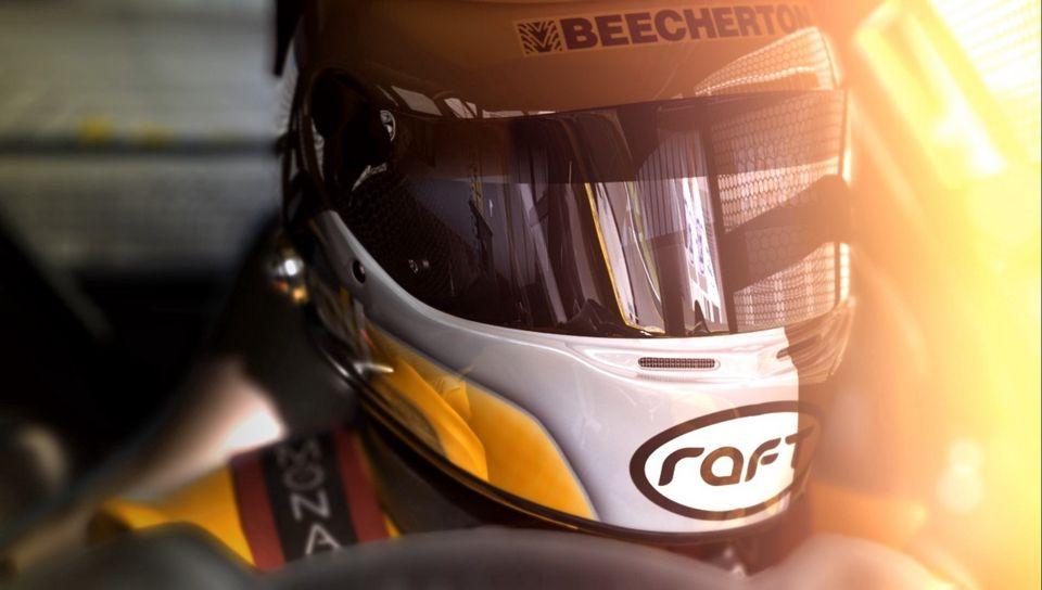 960x544 Wallpaper racer, racing, helmet