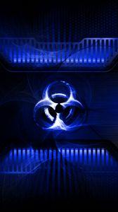 Preview wallpaper radiation, light, sign, symbol, metal