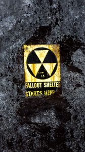 Preview wallpaper radiation, nameplate, words, text, wall