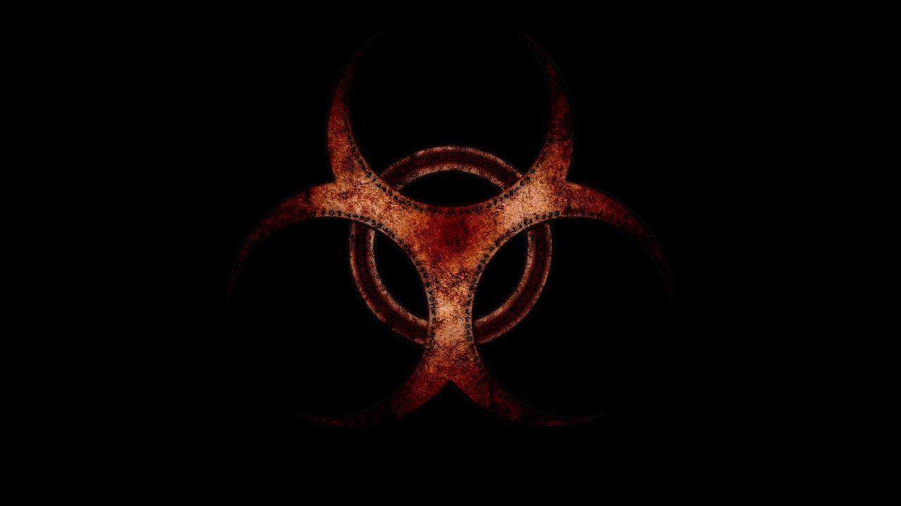 Wallpaper radiation, red, brown, black