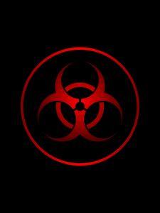 Preview wallpaper radiation, sign, symbol, red, black