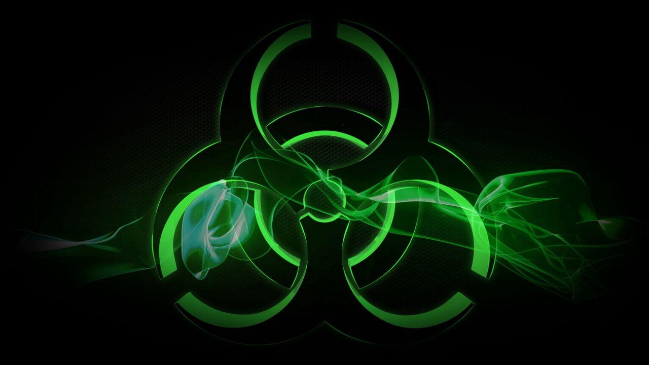Wallpaper radiation, sign, symbol, background