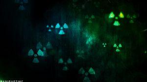 Preview wallpaper radiation, symbols, art, spots