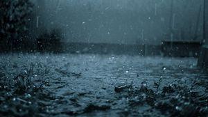 Preview wallpaper rain, drops, splashes, heavy rain, dullness, bad weather