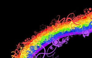 Preview wallpaper rainbow, colorful, background, lines, patterns
