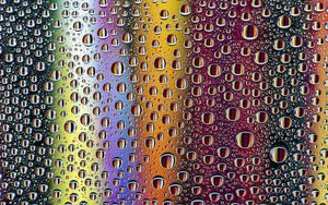 Preview wallpaper rainbow, drops, colorful, reflection
