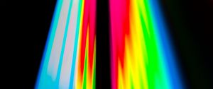 Preview wallpaper rainbow, gradient, stripes, black