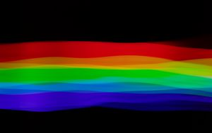 Preview wallpaper rainbow, lines, colorful, black