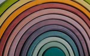 Preview wallpaper rainbow, stripes, wood, colorful