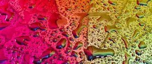 Preview wallpaper rainbow, umbrella, drops, reflection