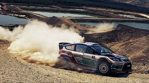 Preview wallpaper rally, ford, drift, dust