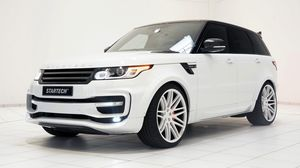 Preview wallpaper range rover, 2014, startech, white, side view
