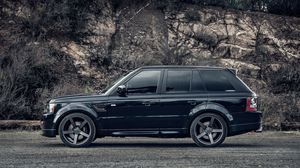 Preview wallpaper range rover, black, side view