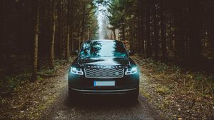 Preview wallpaper range rover, car, front view, suv