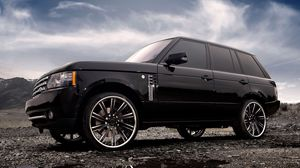 Preview wallpaper range rover, land rover, auto, wheels, tuning, clouds