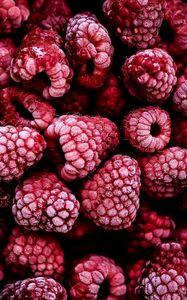 Preview wallpaper raspberry, berry, fruit, frozen
