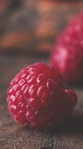 Preview wallpaper raspberry, berry, fruit, macro, surface
