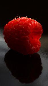 Preview wallpaper raspberry, berry, ripe, macro, shadow