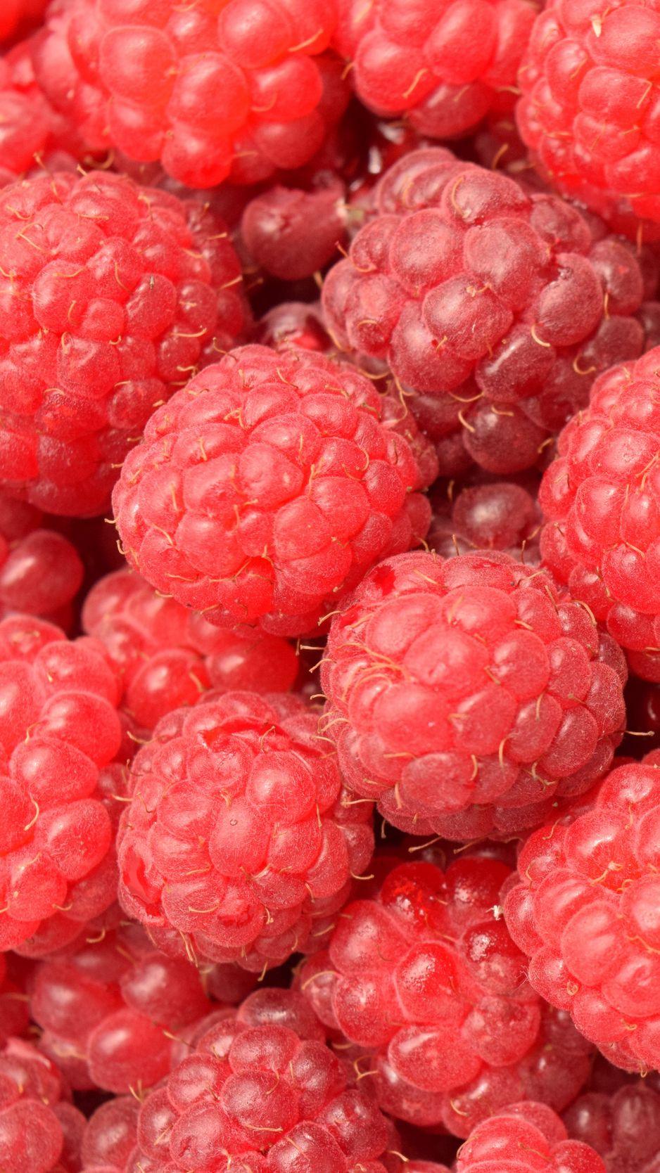938x1668 Wallpaper raspberry, berry, ripe, many