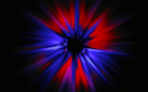 Preview wallpaper rays, bright, red, blue