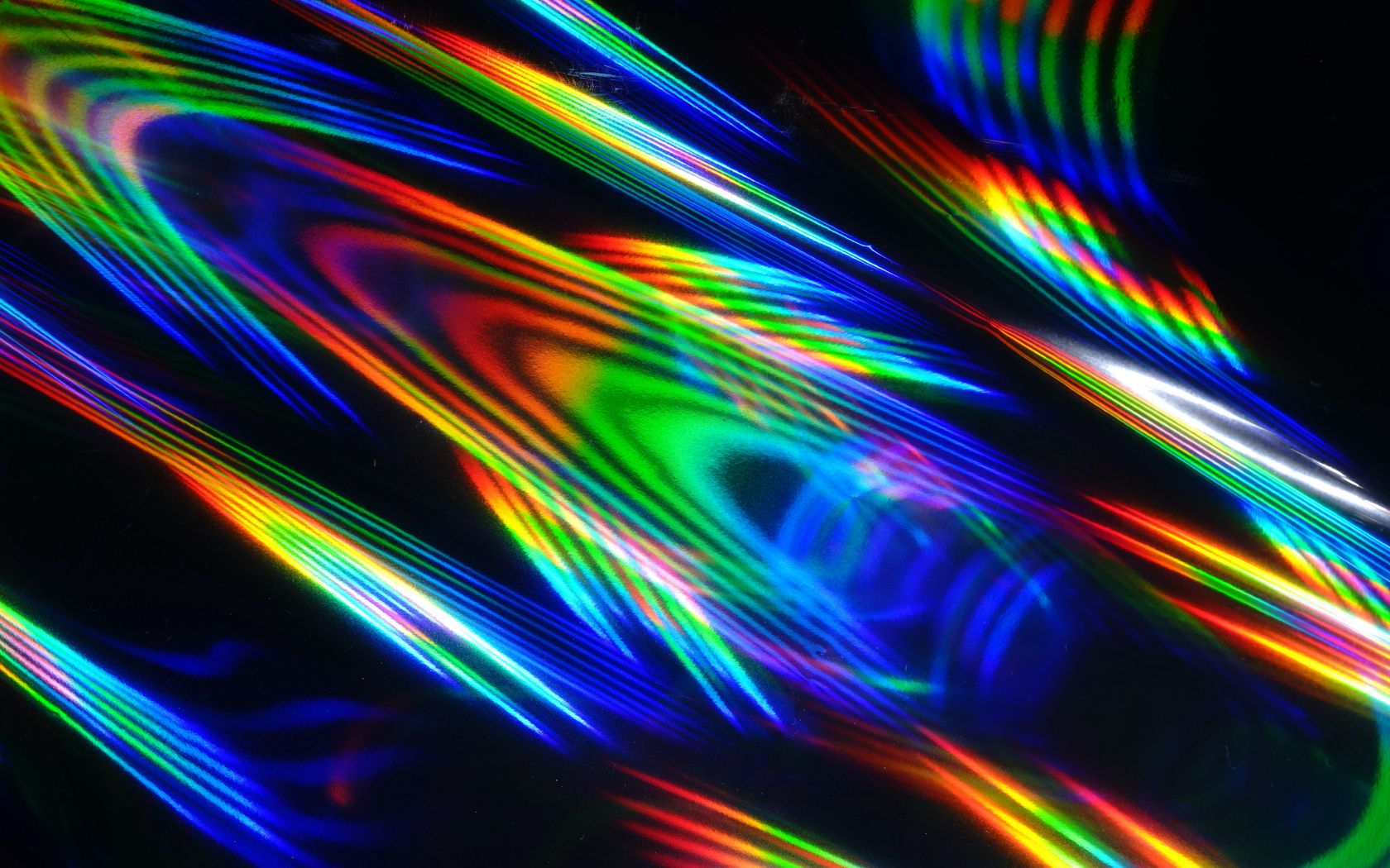 1680x1050 Wallpaper rays, colorful, iridescent, light, abstraction