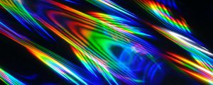 Preview wallpaper rays, colorful, iridescent, light, abstraction