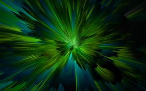 Preview wallpaper rays, lines, stripes, green, abstraction