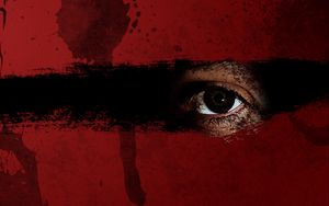 Preview wallpaper red, black, brown, eyes