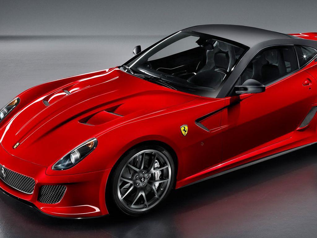 1024x768 Wallpaper red, car, sporty, ride, ferrari