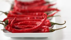 Preview wallpaper red, chili pepper, hot pepper, hot, close-up