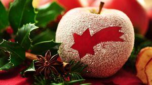 Preview wallpaper red, dessert, dust, apple, macro, star