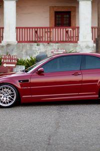 Preview wallpaper red, e46, profile, m3, bmw