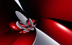 Preview wallpaper red, form, light, line