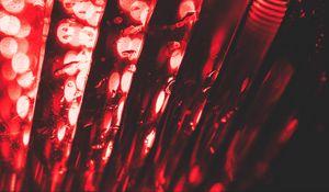 Preview wallpaper red, glare, bokeh, macro, light