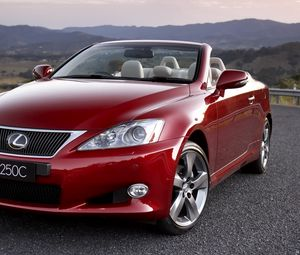 Preview wallpaper red, lexus is 250c, front view, convertible