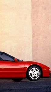 Preview wallpaper red, side view, acura, nsx, sports, style, cars
