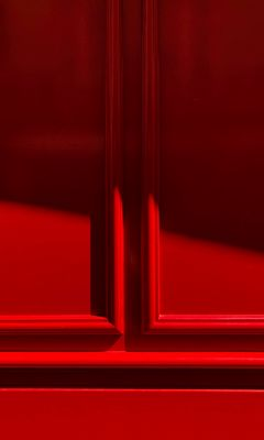 240x400 Wallpaper red, wooden, carved, decoration, frame, shadow