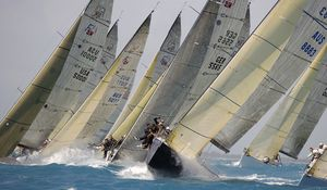 Preview wallpaper regatta, yacht, racing, wind, waves